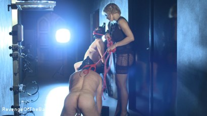 Photo number 14 from Ep 11 - Involuntary Bi Punishment: a Bad Surprise by the Baroness shot for Revenge Of The Baroness on Kink.com. Featuring Baroness Davina Dust, Mr. Friend and The Piece in hardcore BDSM & Fetish porn.