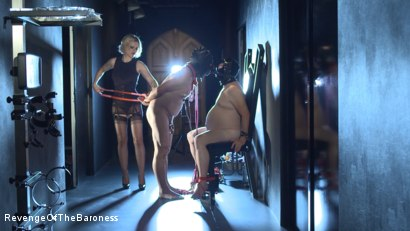 Photo number 27 from Ep 11 - Involuntary Bi Punishment: a Bad Surprise by the Baroness shot for Revenge Of The Baroness on Kink.com. Featuring Baroness Davina Dust, Mr. Friend and The Piece in hardcore BDSM & Fetish porn.