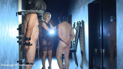 Photo number 5 from Ep 11 - Involuntary Bi Punishment: a Bad Surprise by the Baroness shot for Revenge Of The Baroness on Kink.com. Featuring Baroness Davina Dust, Mr. Friend and The Piece in hardcore BDSM & Fetish porn.