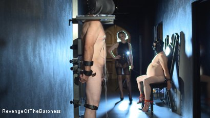 Photo number 8 from Ep 11 - Involuntary Bi Punishment: a Bad Surprise by the Baroness shot for Revenge Of The Baroness on Kink.com. Featuring Baroness Davina Dust, Mr. Friend and The Piece in hardcore BDSM & Fetish porn.