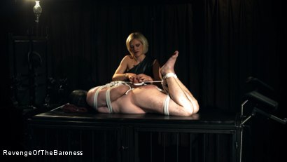 Photo number 13 from Ep 12 - Bondage Date: Tie up Games with the Baroness shot for Revenge Of The Baroness on Kink.com. Featuring Baroness Davina Dust and Bondage Slave in hardcore BDSM & Fetish porn.