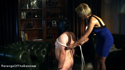 Photo number 21 from Ep 12 - Bondage Date: Tie up Games with the Baroness shot for Revenge Of The Baroness on Kink.com. Featuring Baroness Davina Dust and Bondage Slave in hardcore BDSM & Fetish porn.