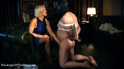 Photo number 23 from Ep 12 - Bondage Date: Tie up Games with the Baroness shot for Revenge Of The Baroness on Kink.com. Featuring Baroness Davina Dust and Bondage Slave in hardcore BDSM & Fetish porn.