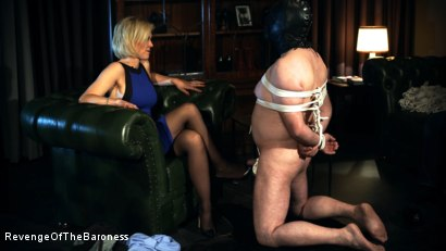 Photo number 4 from Ep 12 - Bondage Date: Tie up Games with the Baroness shot for Revenge Of The Baroness on Kink.com. Featuring Baroness Davina Dust and Bondage Slave in hardcore BDSM & Fetish porn.