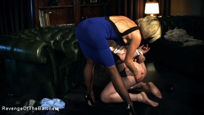 Photo number 5 from Ep 12 - Bondage Date: Tie up Games with the Baroness shot for Revenge Of The Baroness on Kink.com. Featuring Baroness Davina Dust and Bondage Slave in hardcore BDSM & Fetish porn.