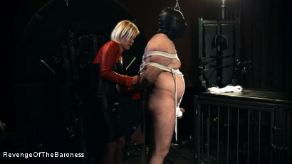 Photo number 8 from Ep 12 - Bondage Date: Tie up Games with the Baroness shot for Revenge Of The Baroness on Kink.com. Featuring Baroness Davina Dust and Bondage Slave in hardcore BDSM & Fetish porn.
