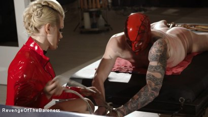 Photo number 13 from Ep 14- The Flagellant: Whipped by the Baroness shot for Revenge Of The Baroness on Kink.com. Featuring Baroness Davina Dust and Mr. Pain in hardcore BDSM & Fetish porn.