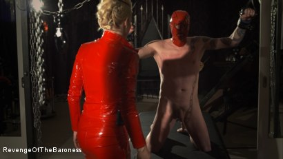 Photo number 5 from Ep 14- The Flagellant: Whipped by the Baroness shot for Revenge Of The Baroness on Kink.com. Featuring Baroness Davina Dust and Mr. Pain in hardcore BDSM & Fetish porn.