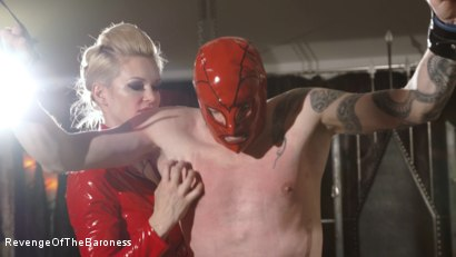 Photo number 6 from Ep 14- The Flagellant: Whipped by the Baroness shot for Revenge Of The Baroness on Kink.com. Featuring Baroness Davina Dust and Mr. Pain in hardcore BDSM & Fetish porn.