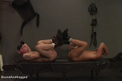Photo number 2 from Alley Pigs in Bondage: Who's Getting Fucked Now? shot for Bound And Gagged on Kink.com. Featuring Mike Stone, Shane Stevens and Peter Sparrow in hardcore BDSM & Fetish porn.
