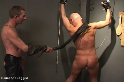 Photo number 12 from Alley Pigs in Bondage: Who's Getting Fucked Now? shot for Bound And Gagged on Kink.com. Featuring Mike Stone, Shane Stevens and Peter Sparrow in hardcore BDSM & Fetish porn.