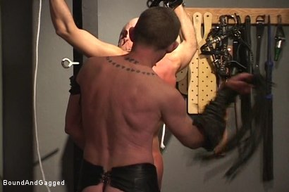 Photo number 13 from Alley Pigs in Bondage: Who's Getting Fucked Now? shot for Bound And Gagged on Kink.com. Featuring Mike Stone, Shane Stevens and Peter Sparrow in hardcore BDSM & Fetish porn.