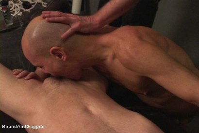 Photo number 1 from Alley Pigs in Bondage: Skullfuck Orgy shot for Bound And Gagged on Kink.com. Featuring Mike Stone, Shane Stevens and Peter Sparrow in hardcore BDSM & Fetish porn.