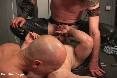 Photo number 5 from Alley Pigs in Bondage: Skullfuck Orgy shot for Bound And Gagged on Kink.com. Featuring Mike Stone, Shane Stevens and Peter Sparrow in hardcore BDSM & Fetish porn.