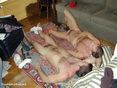 Photo number 11 from Masters & Slaves 1: Two Masters Meet shot for Bound And Gagged on Kink.com. Featuring Jason Branch and Steve Ross in hardcore BDSM & Fetish porn.