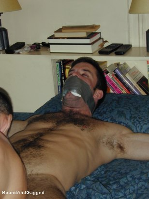 Photo number 13 from Masters & Slaves 1: Two Masters Meet shot for Bound And Gagged on Kink.com. Featuring Jason Branch and Steve Ross in hardcore BDSM & Fetish porn.