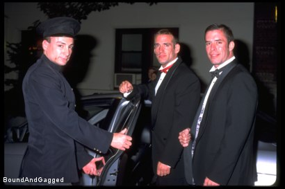 Photo number 8 from Masters & Slaves 1: Two Masters Meet shot for Bound And Gagged on Kink.com. Featuring Jason Branch and Steve Ross in hardcore BDSM & Fetish porn.