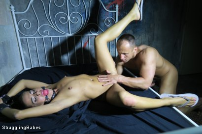 Photo number 7 from Eveline Delay Gets Roughly Fucked shot for Struggling Babes on Kink.com. Featuring Eveline Delay and Ridge in hardcore BDSM & Fetish porn.