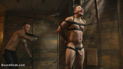 Photo number 3 from Flogged 'n' Fucked! shot for Bound Gods on Kink.com. Featuring Christian Wilde, Micah Brandt, Aarin Asker, Kaden Alexander, Trenton Ducati, Max Cameron and Connor Maguire in hardcore BDSM & Fetish porn.