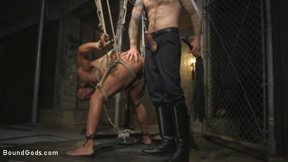 Photo number 22 from Flogged 'n' Fucked! shot for Bound Gods on Kink.com. Featuring Christian Wilde, Micah Brandt, Aarin Asker, Kaden Alexander, Trenton Ducati, Max Cameron and Connor Maguire in hardcore BDSM & Fetish porn.