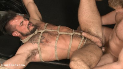 Photo number 2 from Flogged 'n' Fucked! shot for Bound Gods on Kink.com. Featuring Christian Wilde, Micah Brandt, Aarin Asker, Kaden Alexander, Trenton Ducati, Max Cameron and Connor Maguire in hardcore BDSM & Fetish porn.