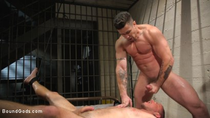 Photo number 21 from Flogged 'n' Fucked! shot for Bound Gods on Kink.com. Featuring Christian Wilde, Micah Brandt, Aarin Asker, Kaden Alexander, Trenton Ducati, Max Cameron and Connor Maguire in hardcore BDSM & Fetish porn.
