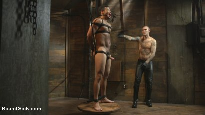 Photo number 34 from Flogged 'n' Fucked! shot for Bound Gods on Kink.com. Featuring Christian Wilde, Micah Brandt, Aarin Asker, Kaden Alexander, Trenton Ducati, Max Cameron and Connor Maguire in hardcore BDSM & Fetish porn.