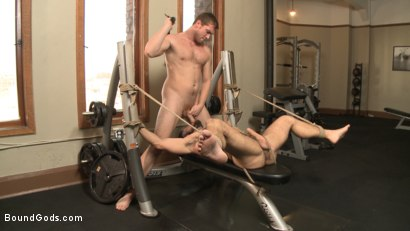 Photo number 7 from Flogged 'n' Fucked! shot for Bound Gods on Kink.com. Featuring Christian Wilde, Micah Brandt, Aarin Asker, Kaden Alexander, Trenton Ducati, Max Cameron and Connor Maguire in hardcore BDSM & Fetish porn.