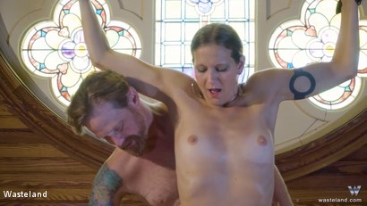 Photo number 17 from BDSM In A Choir Loft, Episode 1 shot for Wasteland on Kink.com. Featuring Ava Mir-Ausziehen and Rob Gadling in hardcore BDSM & Fetish porn.