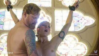 Photo number 7 from BDSM In A Choir Loft, Episode 1 shot for Wasteland on Kink.com. Featuring Ava Mir-Ausziehen and Rob Gadling in hardcore BDSM & Fetish porn.