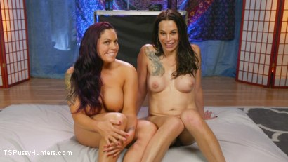 Photo number 34 from Kristen Kraves and Jasmeen Lefleur: Full Service NURU Massage  shot for TS Pussy Hunters on Kink.com. Featuring Jasmeen LeFleur and Kristen Kraves in hardcore BDSM & Fetish porn.