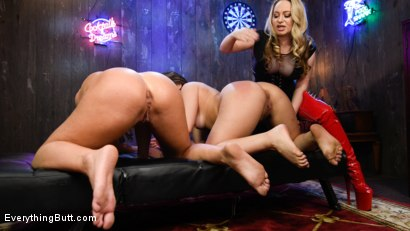 Photo number 3 from Strip Poker: Three Anal Whores Go All In shot for Everything Butt on Kink.com. Featuring Aiden Starr, Kimber Woods and Cheyenne Jewel in hardcore BDSM & Fetish porn.