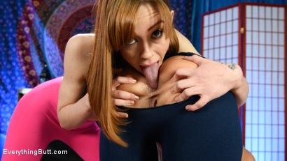 Photo number 1 from Alexa Nova Teaches London River Ass Stretching Yoga  shot for Everything Butt on Kink.com. Featuring London River and Alexa Nova in hardcore BDSM & Fetish porn.
