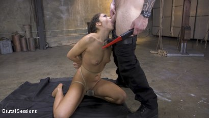 Photo number 6 from Petite Fresh Faced Whore Victoria Voxxx Bound in Rope and Brutally Fucked shot for Brutal Sessions on Kink.com. Featuring Cyrus King  and Victoria Voxxx in hardcore BDSM & Fetish porn.