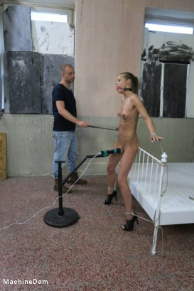 Photo number 6 from Helpless Sarah Kay gets Nipple Punished and Machine-Fucked shot for Machine Dom on Kink.com. Featuring Sarah Kay and Ar in hardcore BDSM & Fetish porn.