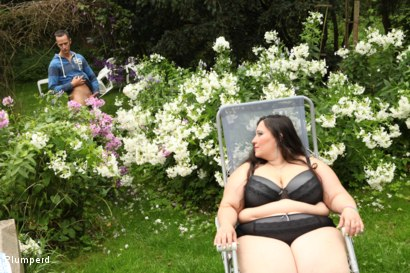Photo number 1 from BBW facesiting in the garden shot for Plumperd on Kink.com. Featuring Jitka and Martin in hardcore BDSM & Fetish porn.