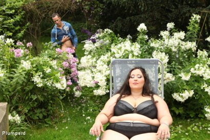 Photo number 2 from BBW facesiting in the garden shot for Plumperd on Kink.com. Featuring Jitka and Martin in hardcore BDSM & Fetish porn.
