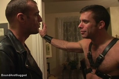 Photo number 2 from Masters & Slaves 1: Meeting Matt's Slave shot for Bound And Gagged on Kink.com. Featuring Jason Branch, Steve Ross and Aaron Tanner in hardcore BDSM & Fetish porn.