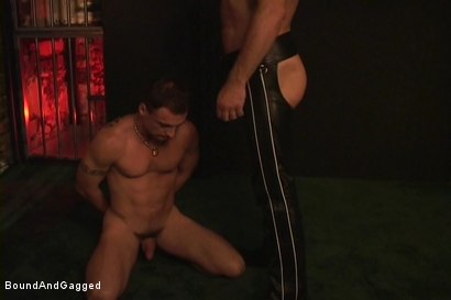 Photo number 12 from Masters & Slaves 1: Meeting Matt's Slave shot for Bound And Gagged on Kink.com. Featuring Jason Branch, Steve Ross and Aaron Tanner in hardcore BDSM & Fetish porn.