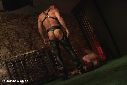 Photo number 15 from Masters & Slaves 1: Meeting Matt's Slave shot for Bound And Gagged on Kink.com. Featuring Jason Branch, Steve Ross and Aaron Tanner in hardcore BDSM & Fetish porn.