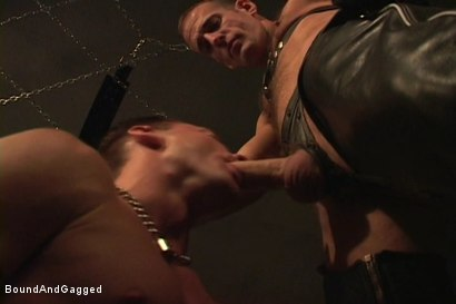 Photo number 3 from Masters & Slaves 1: Meeting Matt's Slave shot for Bound And Gagged on Kink.com. Featuring Jason Branch, Steve Ross and Aaron Tanner in hardcore BDSM & Fetish porn.