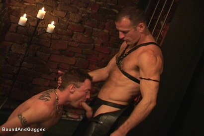 Photo number 4 from Masters & Slaves 1: Meeting Matt's Slave shot for Bound And Gagged on Kink.com. Featuring Jason Branch, Steve Ross and Aaron Tanner in hardcore BDSM & Fetish porn.