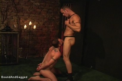 Photo number 5 from Masters & Slaves 1: Meeting Matt's Slave shot for Bound And Gagged on Kink.com. Featuring Jason Branch, Steve Ross and Aaron Tanner in hardcore BDSM & Fetish porn.