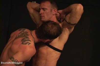 Photo number 6 from Masters & Slaves 1: Meeting Matt's Slave shot for Bound And Gagged on Kink.com. Featuring Jason Branch, Steve Ross and Aaron Tanner in hardcore BDSM & Fetish porn.