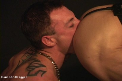 Photo number 8 from Masters & Slaves 1: Meeting Matt's Slave shot for Bound And Gagged on Kink.com. Featuring Jason Branch, Steve Ross and Aaron Tanner in hardcore BDSM & Fetish porn.