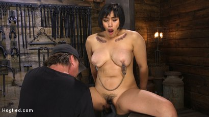 Photo number 15 from Mia is Bound in Grueling Rope Bondage and Brutally Tormented shot for Hogtied on Kink.com. Featuring Mia Little in hardcore BDSM & Fetish porn.