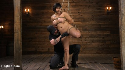 Photo number 8 from Mia is Bound in Grueling Rope Bondage and Brutally Tormented shot for Hogtied on Kink.com. Featuring Mia Little in hardcore BDSM & Fetish porn.