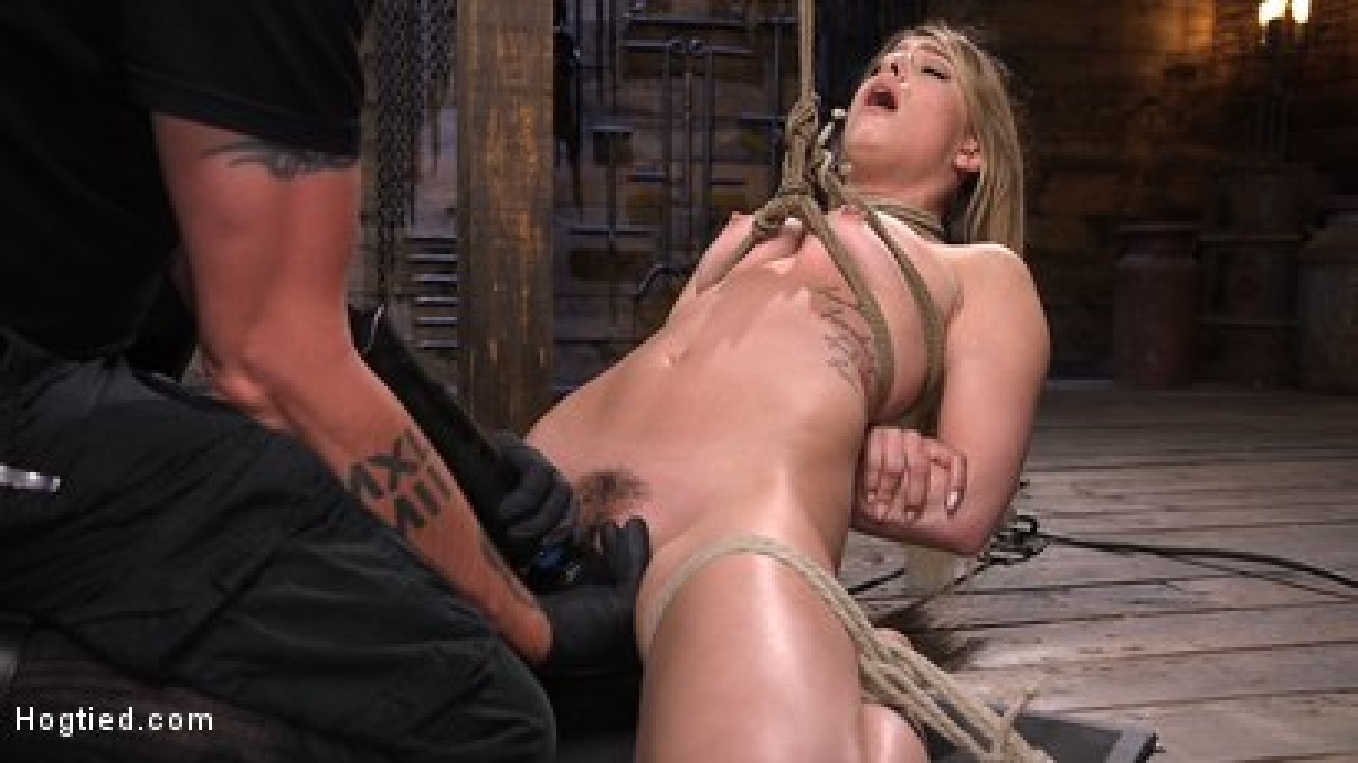 Photo number 4 from Girl Next Door in Brutal Predicament Bondage with Screaming Orgasms shot for Hogtied on Kink.com. Featuring Kristen Scott in hardcore BDSM & Fetish porn.