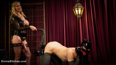 Photo number 9 from Latex Goddess Julia Ann Dominates Dripping Cock Whore shot for Divine Bitches on Kink.com. Featuring Julia Ann and Tony Orlando in hardcore BDSM & Fetish porn.