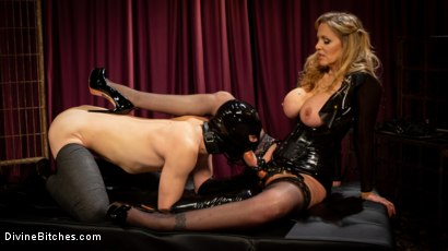 Photo number 11 from Latex Goddess Julia Ann Dominates Dripping Cock Whore shot for Divine Bitches on Kink.com. Featuring Julia Ann and Tony Orlando in hardcore BDSM & Fetish porn.